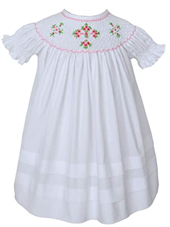 e9cf88d34 Amazon.com  Carouselwear Girls Easter White Dress Christening Cross ...