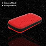 ADVcer Nintendo Switch Carrying Case, EVA Waterproof Hard Shield Protective Travel Storage Case with Wrist Strap and Double Zipper for Nintendo Switch with Joy-Con Controller and 8 Game Card (Red)