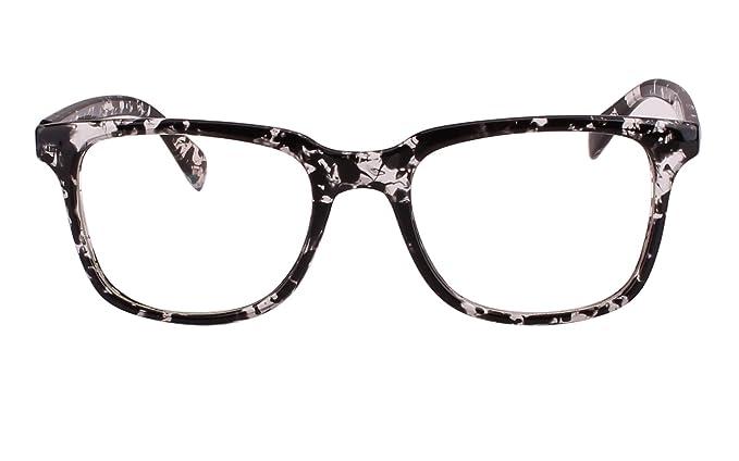 bb3db40e1971 Agstum Classic Non Prescription Glasses Frame Eyeglasses Clear Lens For  Mens Womens (Black Flowers