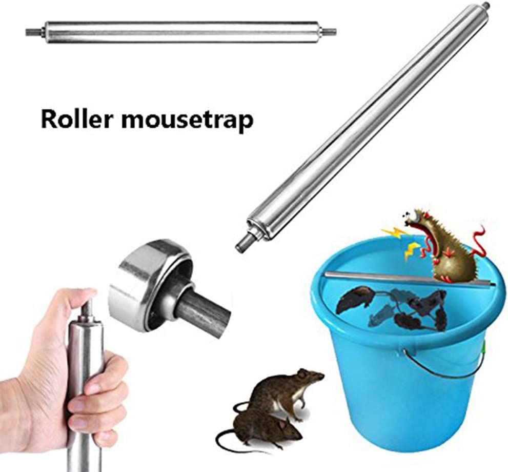Meolin Rolling Mouse Trap Walk Plank Mouse Trap Rodent Auto Rat Reset Pest Control Bait Catcher Mice Traps