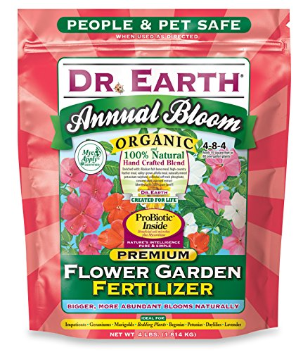 Dr. Earth 705P Organic 6 Flower Garden Fertilizer in Poly Bag, 4-Pound by Dr. Earth