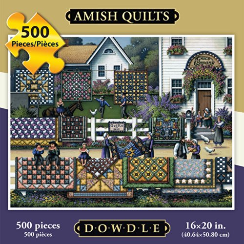 Jigsaw Puzzle - Amish Quilt 500 Pc By Dowdle Folk Art