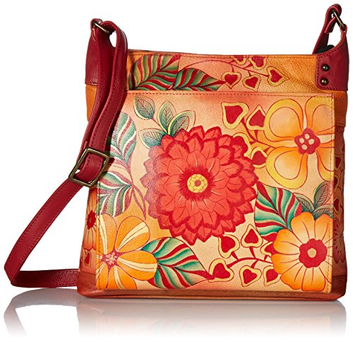 Anuschka Anna by Anuschka Handpainted Crossbody Organizer,Summerbloom, Sub-Summer Bloom by ANUSCHKA