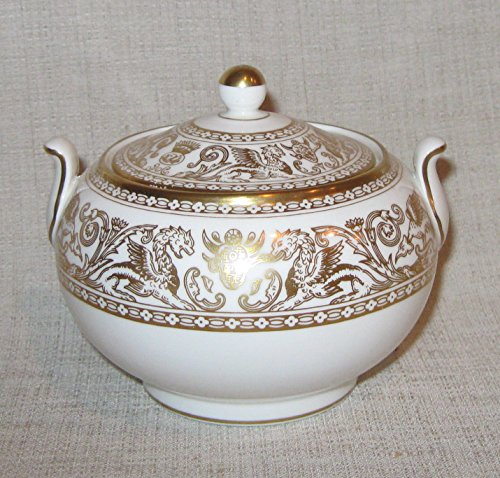 - Wedgwood - Gold Florentine - Sugar Bowl