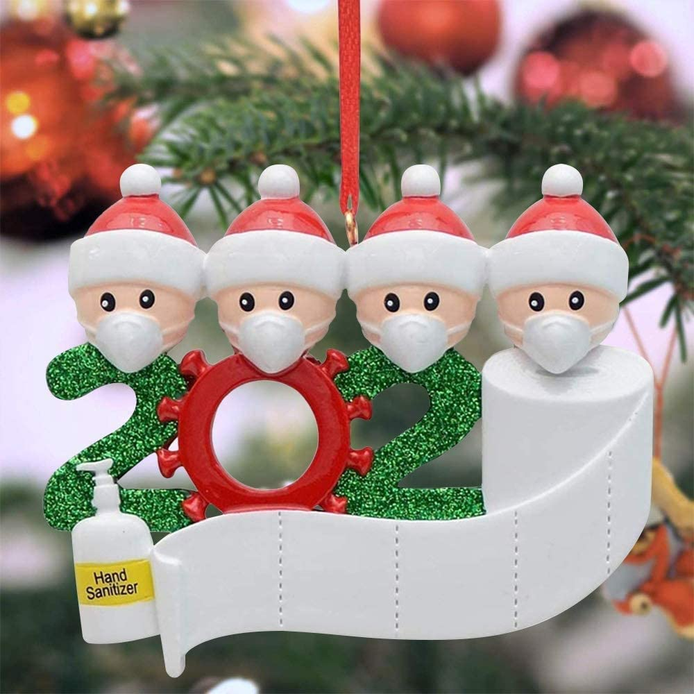 Jokben Covid 2020 Christmas Ornaments Personalized Quarantine Survived Family Christmas Hanging Ornament With Toilet Paper Crisis Special Keepsake Xmas Decorations Gifts For Christmas Tree Decor Amazon Co Uk Kitchen Home