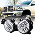 BICYACO New Version LED Fog Light for Dodge Ram 1500 2002-2008 Dodge Ram 2500/3500 Pickup Truck 2003 2004 2005 2006 2007 2008 2009-1 Pair