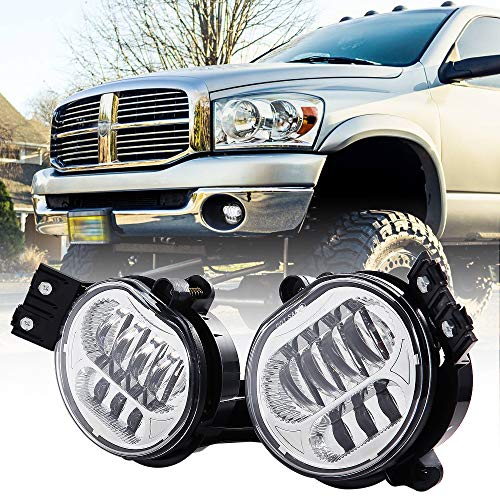 2018 New Version LED Fog Light for Dodge Ram 1500 2002-2008 Dodge Ram 2500/3500 Pickup Truck 2003 2004 2005 2006 2007 2008 2009-1 ()