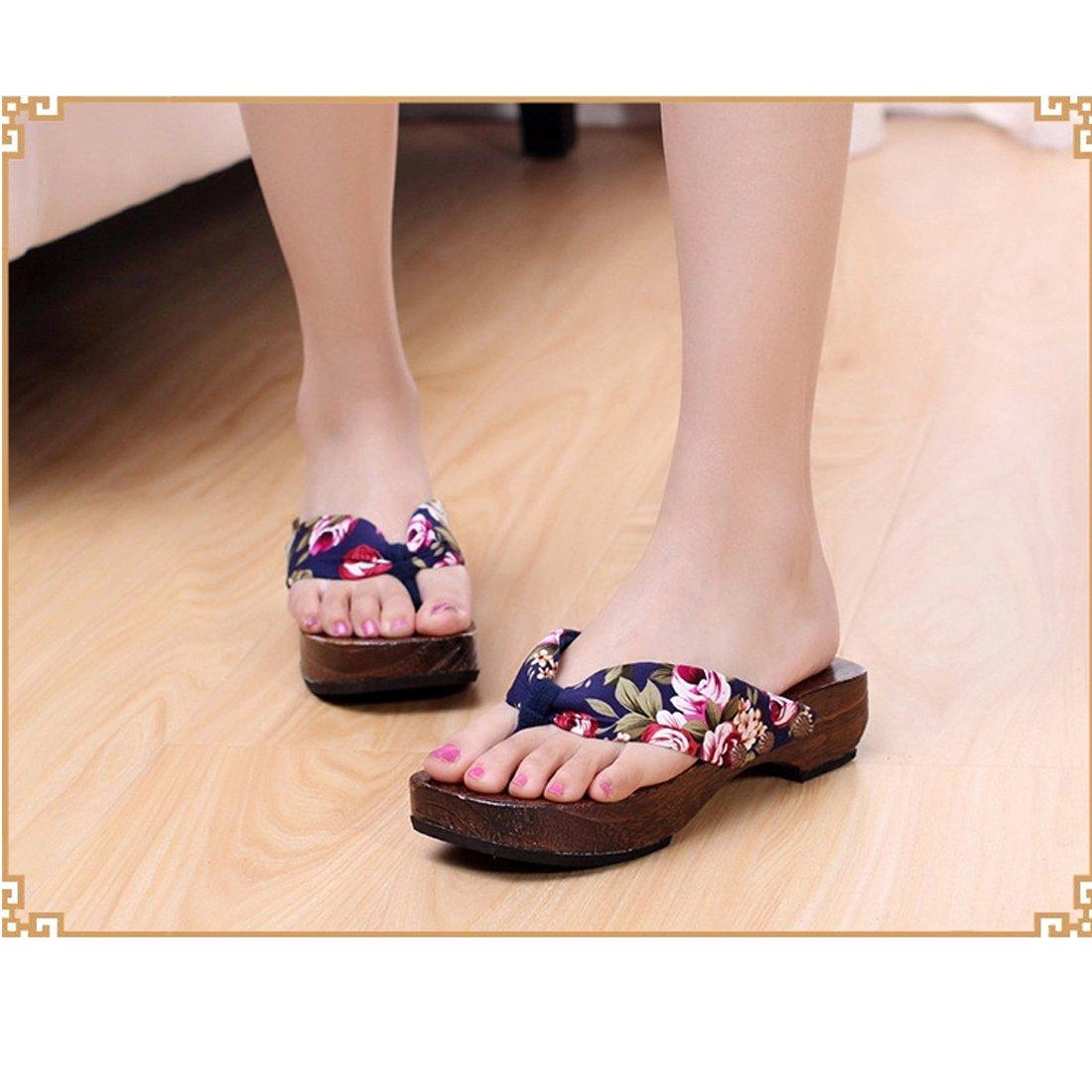 2afbd80ab5d Ainiel Woman s Japanese Traditional Clogs Geta Sandals