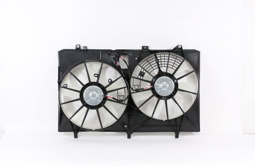 Dual Radiator and Condenser Fan Assembly - Cooling Direct For/Fit TO3115168 10-15 Lexus RX 350 CANADA/JAPAN-BUILD WITH TOW PACKAGE ONLY 11-16 Toyota Sienna 3.5L w/o Fan ControlModule 11-13 Sienna 2.7L