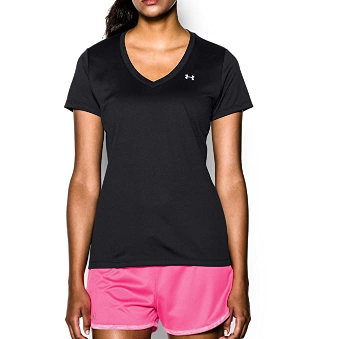 da555a29 Under Armour Women's Tech V-Neck Short Sleeve T-Shirt