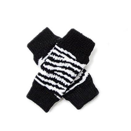 Juego de 4 calcetines de invierno para perro, diseño de leopardo de cebra, con