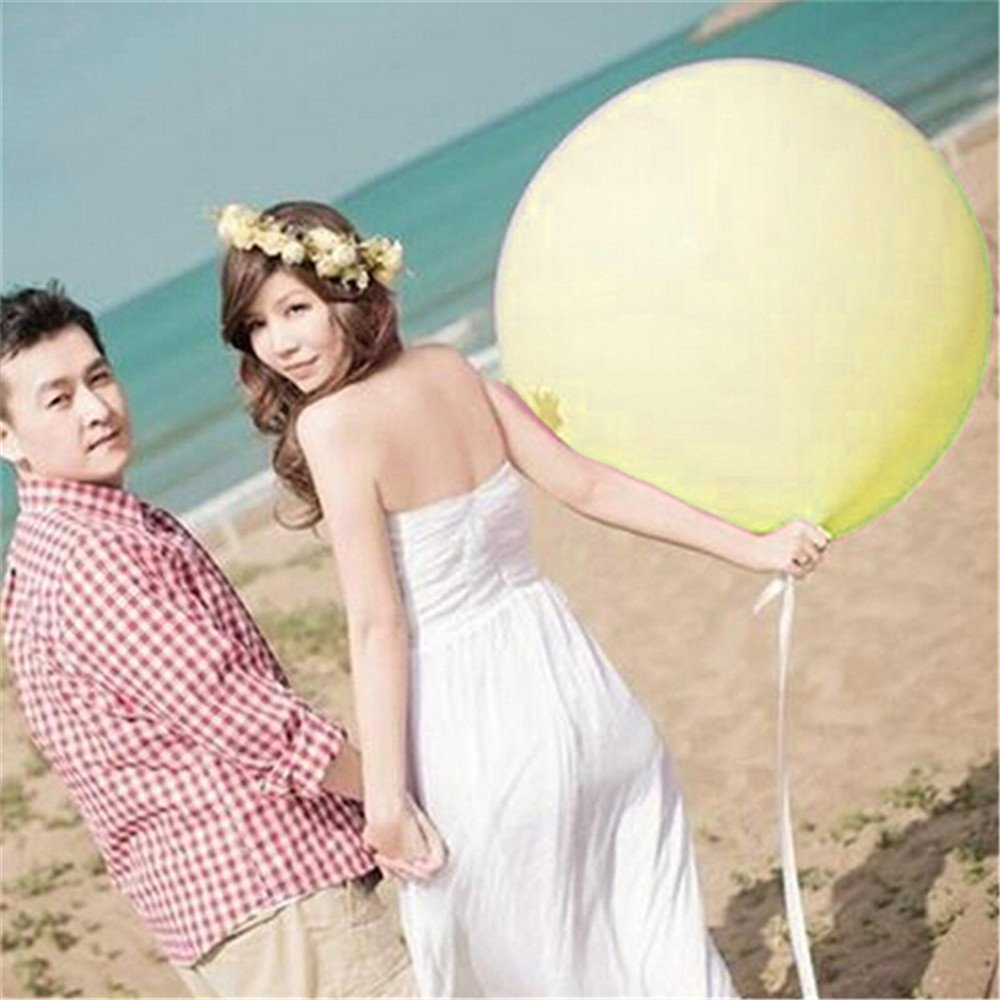 10colors 5pcs 36 Inch Giant Latex Balloon for Birthday Wedding Party Decoration (Yellow) China