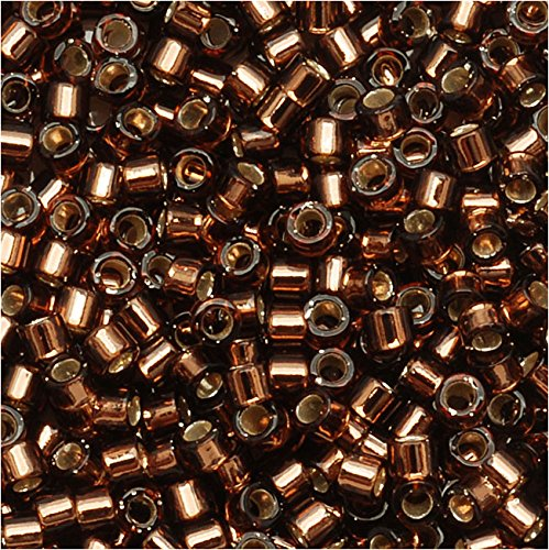 Silver Lined Brown (Db150) Delica Myiuki 11/0 Seed Bead 7.2 Gram Tube Approx 1400 Beads