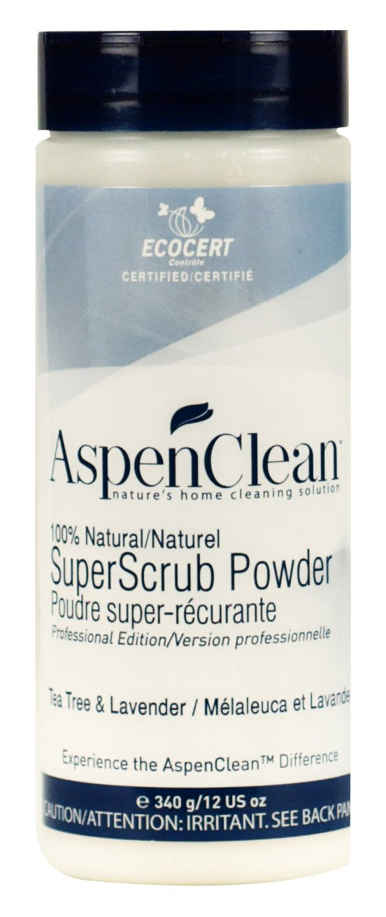 AspenClean 100-Percent Natural Household Products-SuperScrub Powder-Tea Tree and Lavender