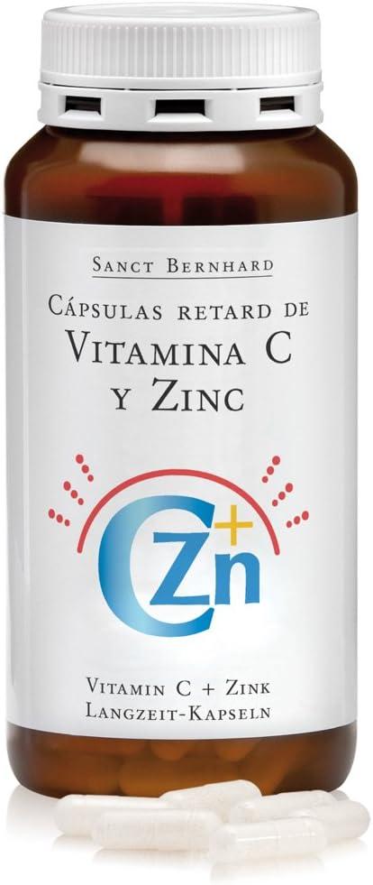 Vitamina C y Zinc de lenta absorción (Efecto Retard) - 180 Cápsulas
