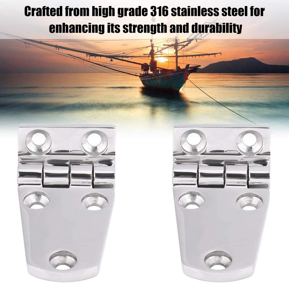 1 Pair Stainless Steel Flush Door Hatch Compartment Folding Bending Hinge Casting for Boat Marine Suuonee Door Hinge