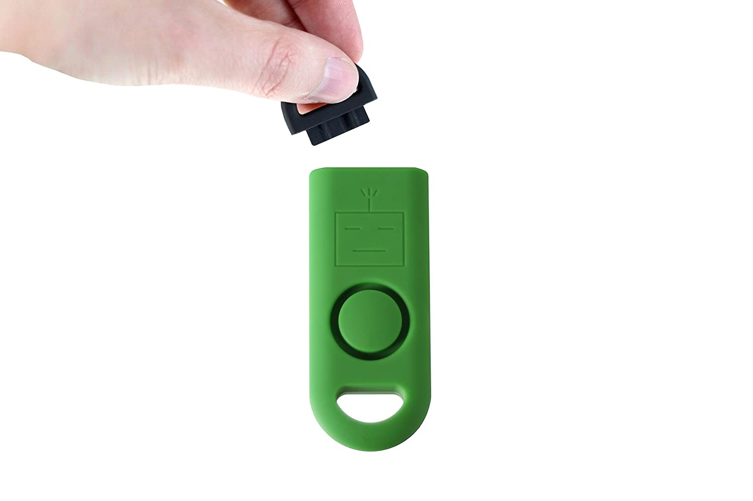The Worlds Smallest Emergency Alarm Use in Any Emergency Ranger Green B A S U eAlarm+ with Tripwire Hook Battery Included Carabiner Included
