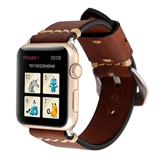 a7746defe53 ABC®Retro High-Quality Leather Strap Replacement Watch Band For Apple Watch  1 2 (38mm