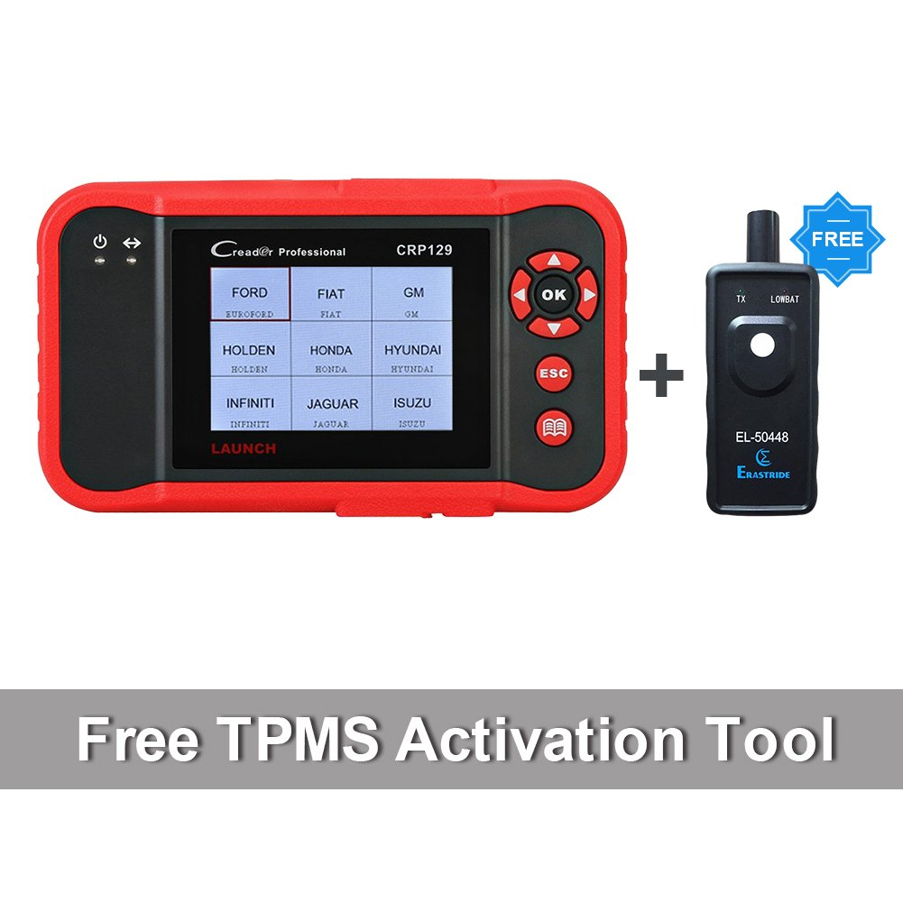 Launch CRP129 OBD2 Scanner Auto Code Reader ABS Airbag Engine Transmission Diagnostic Scan tool and EPB SAS Oil Service Light Resets with TPMS Activation Tool