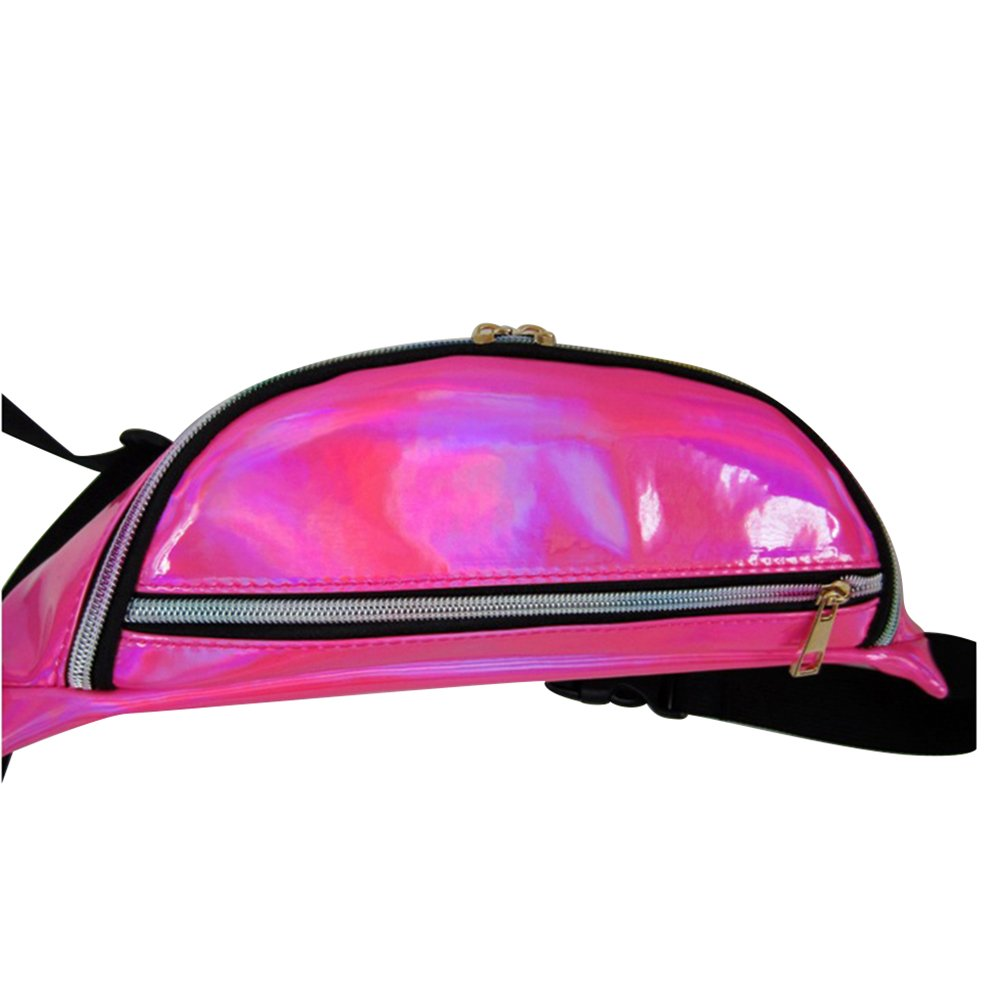 Softmusic Women Fashion Reflective Waist Pack Translucent Shoulder Crossbody Bag Pouch