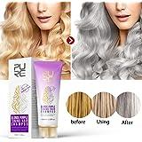 FidgetGear Blonde Purple Toning Hair Shampoo Blonde Shampoo Gray Silver Shampoo Long Lasting Hair Dye Color Treatment Shampoo 100g Normal