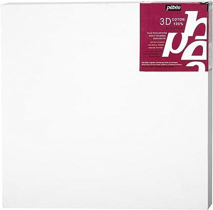 Pébéo 782502 - Lienzo 3D (algodón, cuadrado, 40 x 40 cm): Amazon.es: Oficina y papelería