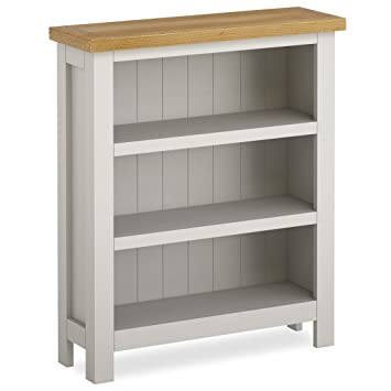 Farrow Grey Painted Low Bookcase