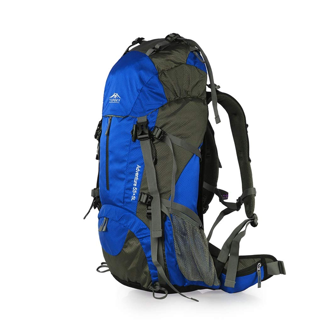 屋外バックパック アウトドア登山ハイキングに適した40L / 50Lバックパックユニセックスバックパック HBJP (色 : 青, サイズ さいず : 60cm×32cm×17cm) 60cm×32cm×17cm 青 B07RM1FTYZ