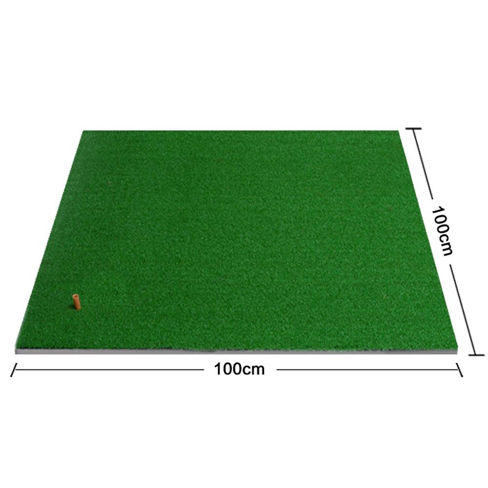 ゴルフ打撃マットゴルフパッド屋内パーソナル練習用マットミニスイングボールパッド手ごろな価格の便利な収納(サイズ:100cm×100cm)   B07C8GBL6W