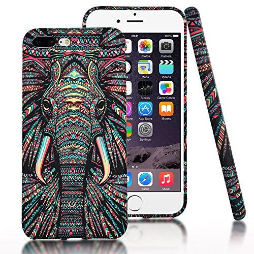 iPhone 7 Plus Case,CLOUDS Luminous Luxury Fashion Cool Cute Elephant Tribe Animal...