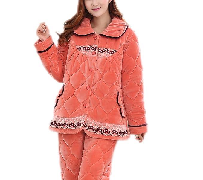 Pijamas Pijamas Pijamas Pijamas Pijamas Gruesas Ocasionales,Orange-XXL