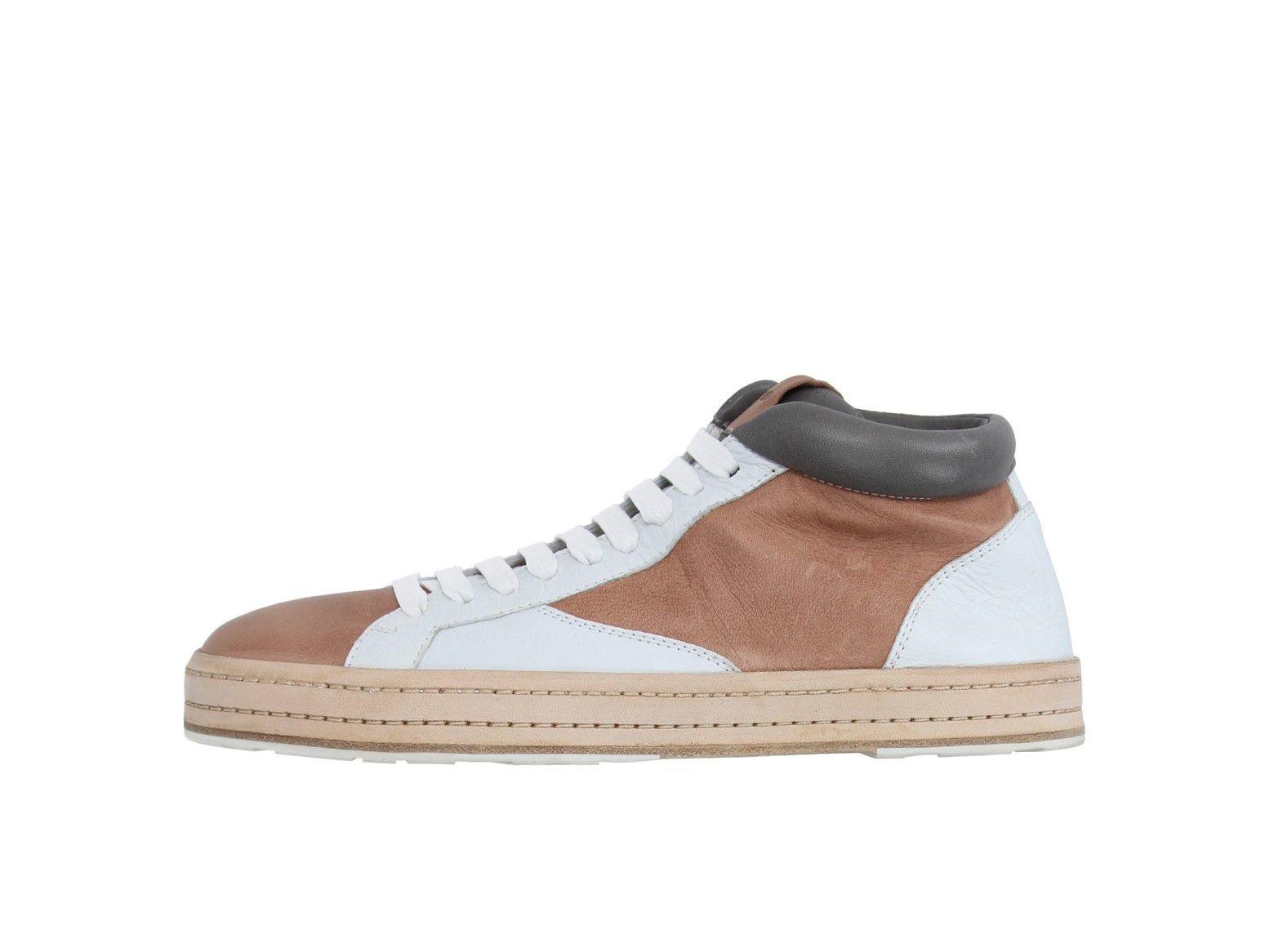 Jil Sander Leather Hi-top Sneakers 40