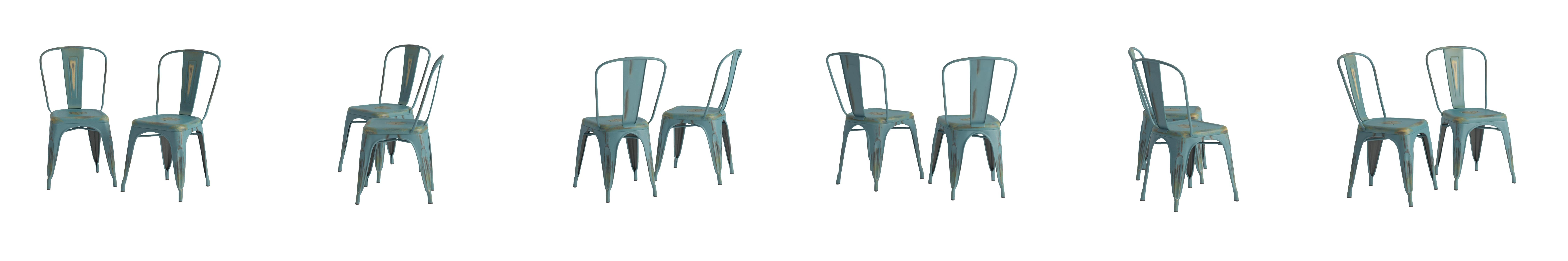 Adeco metal stackable industrial chic dining bistro cafe side chairs - Amazon Com Adeco Metal Stackable Industrial Chic Dining Bistro Cafe Side Chairs Antique Set Of 2 Chairs