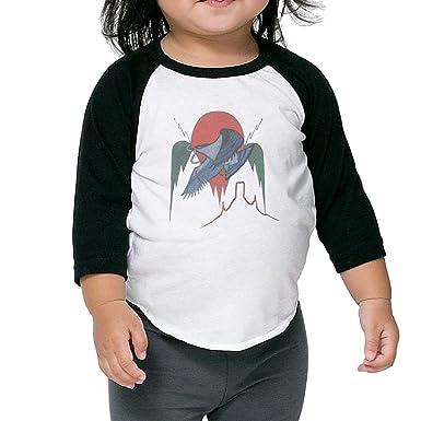 be4d9f0b Amazon.com: Baby Unisex 3/4 Sleeve Eagles On The Border Baseball Shirts Tee:  Clothing