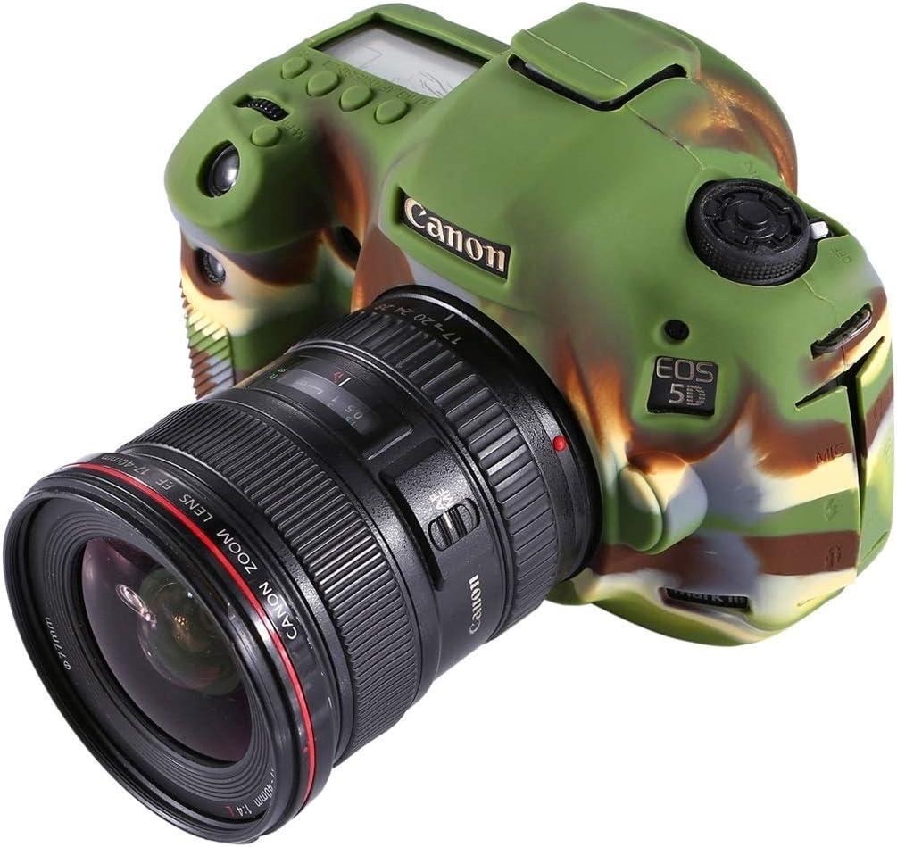 5D3 XulilinQ Camera Case Mild Silicone Protective Case for Canon EOS 5D Mark III Camouflage Color : Black