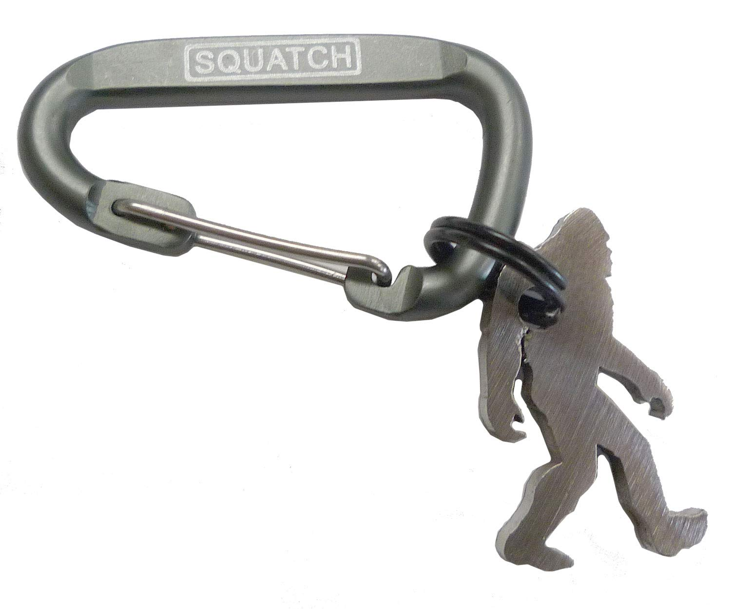 Squatch Metalworks Microsquatch Keychain Charm Bottle Opener with Carabiner - Made in USA