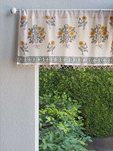 Wild Poppies ~ Botanical French Country Beaded Window Val...