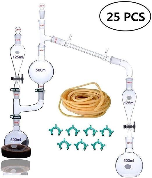 Conjunto de destilación de Laboratorio 23 Piezas Equipo de ...