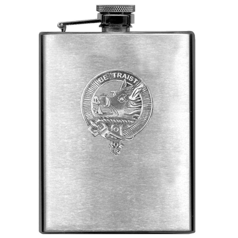 Innes Scottish Clan Stainless Steel 8oz Flask