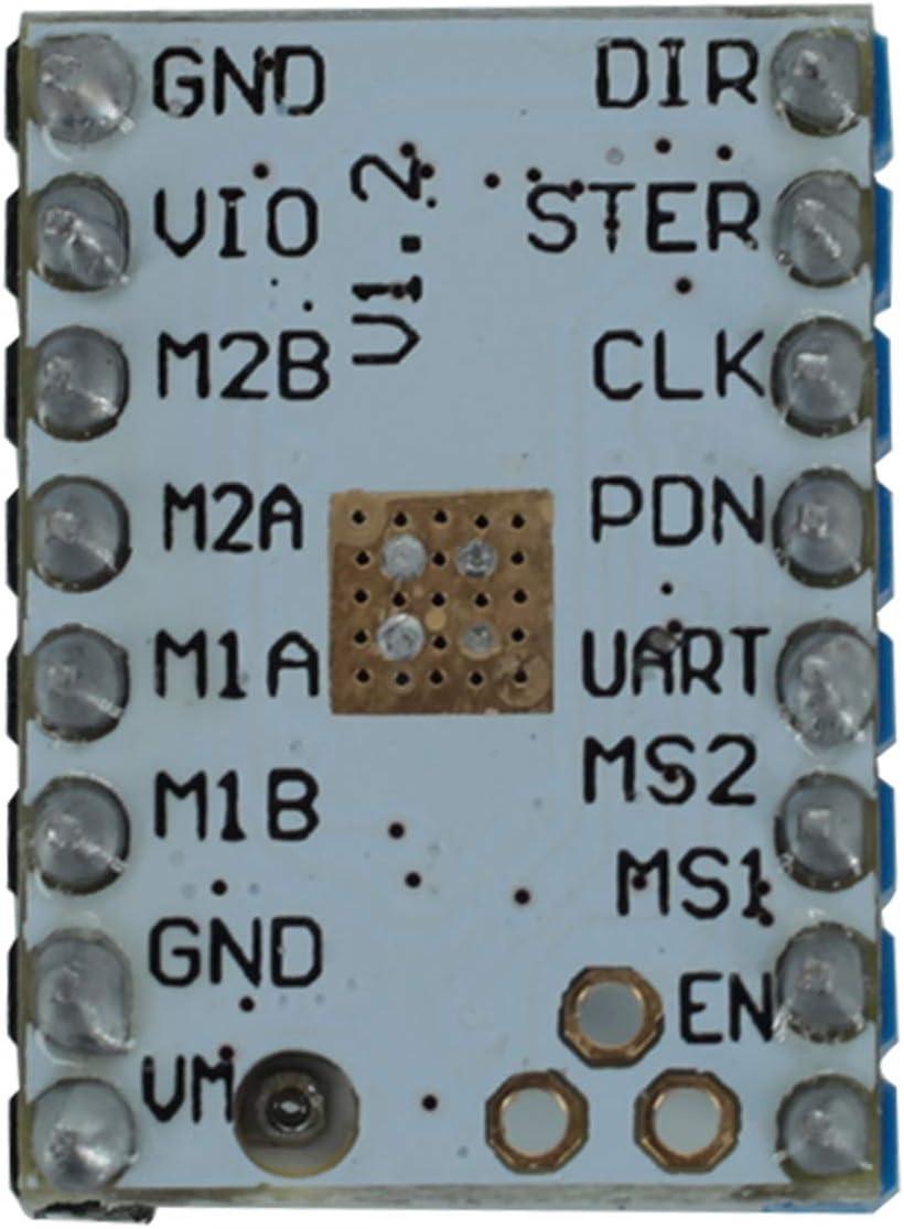 DEVMO 5PCS TMC2208 V1.2 Stepper Motor Driver Module Carrier with Heat Sink Screwdriver for 3D Printer Controller Mother Boards Reprap Ramps1.4 MKS Prusa i3 Ender-3 Pro