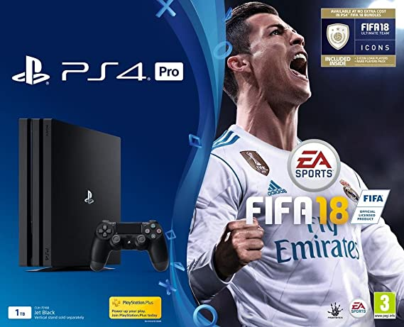PS4 Pro 1 To + FIFA 18 Edition Deluxe + PlayStation Plus 14 Jours: Amazon.es: Videojuegos