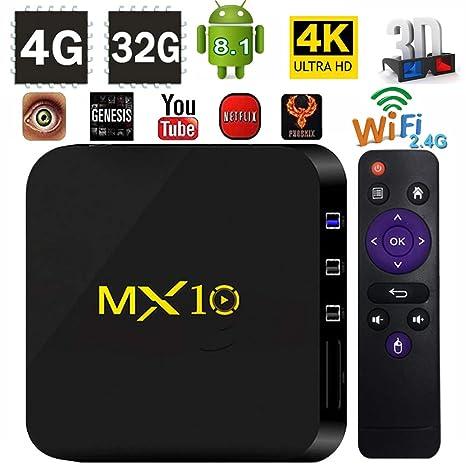 TV Box Android 8.1 - LinStar MX10 2018 Version Android 8.1 TV Box 4GB RAM 32GB