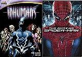 The Amazing Spider-Man Movie & The Inhumans DVD Marvel Animated Marvel Knights Set Greatest Battle Begins Super hero Pack