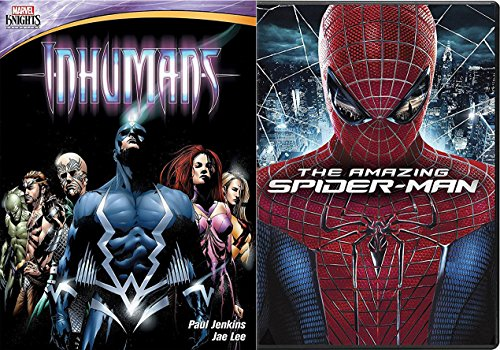 The Amazing Spider-Man Movie & The Inhumans DVD Marvel Animated Marvel Knights Set Greatest Battle Begins Super hero Pack