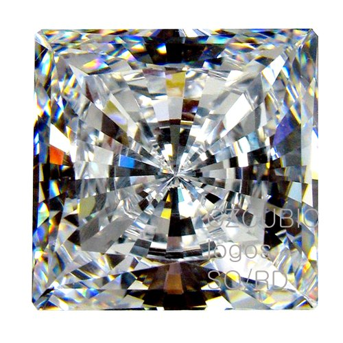 Cubic Zirconia Loose Square Shape / Round cutting 4.00 X 4.00 MM/ 0.40 Ct Diamond Weight Super & Super Quality Clear White Color. Not