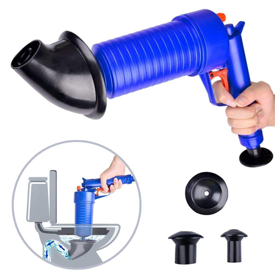 Bathtub Shower Powerful Drain Plunger with 1 Type Suction Cups Sink Suitable for Toilet Liumei Toilet Air Plunger