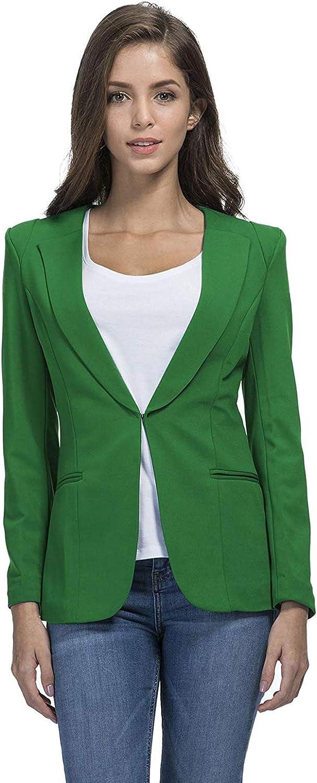 JHVYF Womens Casual Blazers Work Office Jacket Open Front Boyfriend Blazer Fashion Outfit