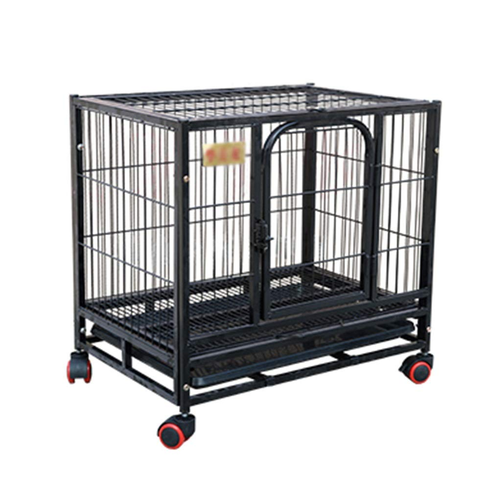 78×54×70cm Pet Playpens Portable Metal Pet Exercise and Playpen with Door, Animal Fence Cage, Black (Size   78×54×70cm)