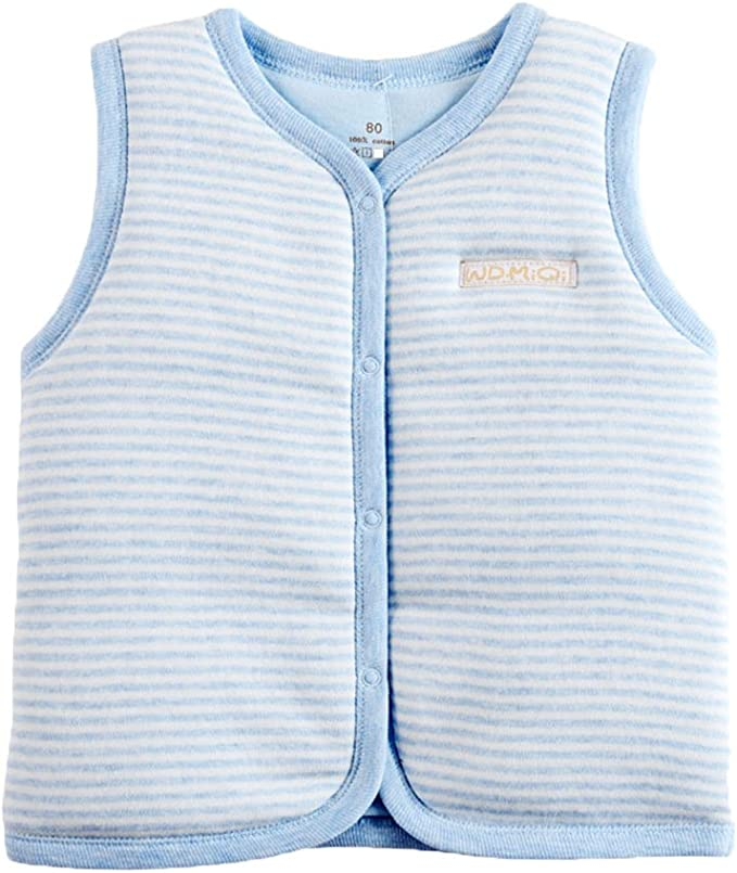 sleeveless Vest Ginette reversible for children. cotton fabric and faux fur