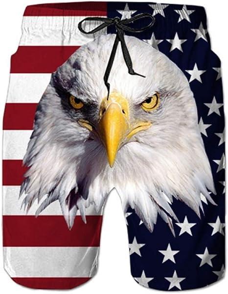 DAHDXD Eagle Animal Men Shorts Playa Hombre Pantalón Impresora 3D ...